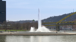 4K The Fountain at The Point in Pittsburgh 4246 Footage