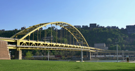 4K Fort Pitt Bridge 4301 Footage