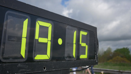 4K Marathon Race Clock Closeup 4339 Footage