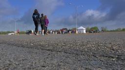 4K People Walk Outside 4342 Footage
