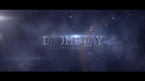 Doomsday Title design Motion Graphics Template