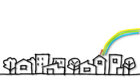 街と虹 CG動画