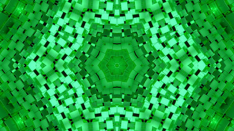 Background Green Shimmer Kaleidoscope Abstract Animación