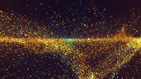 Golden Blue Particles GIF