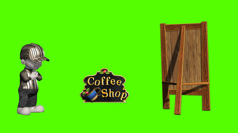3D Animation Invitation Into Coffe Shop Animation