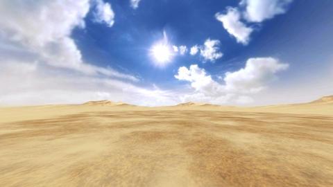 3D Windy desert Animation