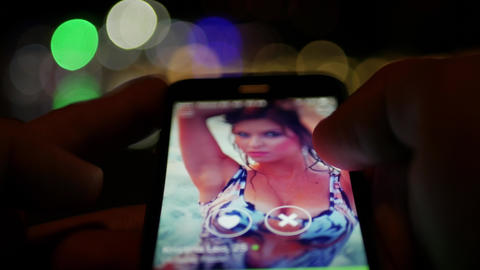 Chatting with beautiful girls around you on social discovery application Bloomy like Tinder, Badoo, Live Action