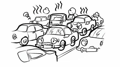 Traffic-jam Animation