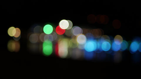 Abstract glowing blurry circles blinkin in the night - background concept bokeh GIF