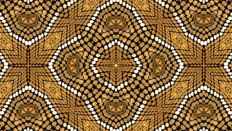 Gold Background Glow Shimmer Kaleidoscope Abstract Animación