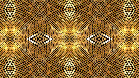 Gold Background Glow Shimmer Kaleidoscope Abstract Animation