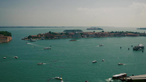 Above view of boats in Venice Footage