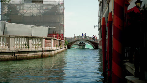 Boat passing on Venice canal 영상물