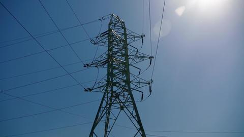 Electricity pole Footage