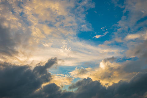 Blue sky and clouds The beauty of nature フォト