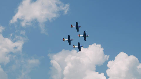 Planes Flying in formation Live Action