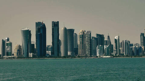 Skyscrapers in Doha Live Action