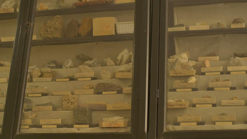 Closet with Various Geological Samples Footage