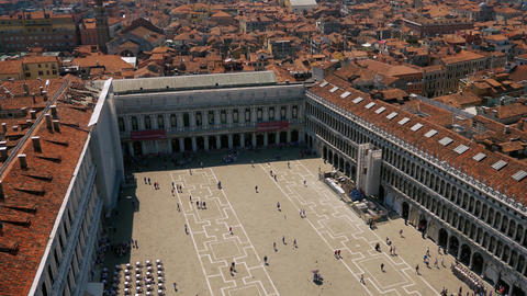 Venice Saint Mark square view from above Footage