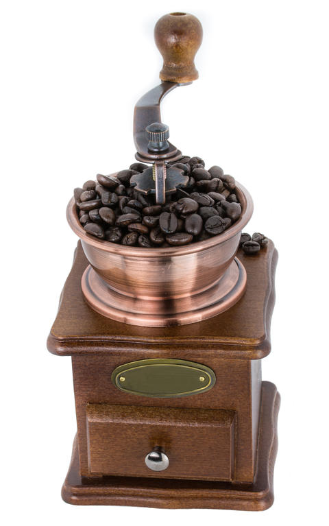 Coffee Grinder over white background フォト