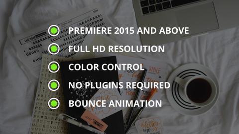 Bullet List Premiere Pro Template