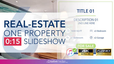 Real-Estate One Property 15s Slideshow 6 After Effects Template
