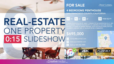 Real-Estate One Property 15s Slideshow 8 After Effects Template