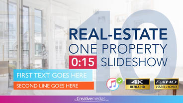 Real-Estate One Property 15s Slideshow 10 After Effects Template