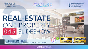 Real-Estate One Property 15s Slideshow 3 After Effects Template