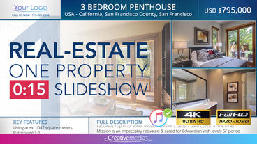 Real-Estate One Property 15s Slideshow 1 After Effects Template