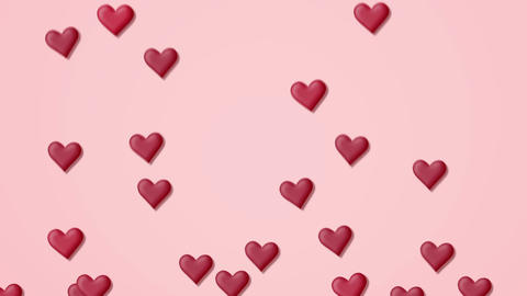 SerRed heart background on a pink background with alpha matteca alpha GIF