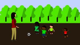Girl walking with child in the park Vector