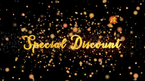 Special Discount Abstract particles and glitter fireworks greeting card Animation