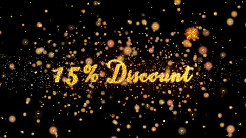 15 Discount Abstract particles and glitter fireworks greeting card Animation