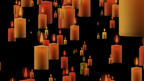 4K Animated background of moving candles seamless loop Animation