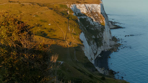 The White Cliffs of Dover, England, UK Footage