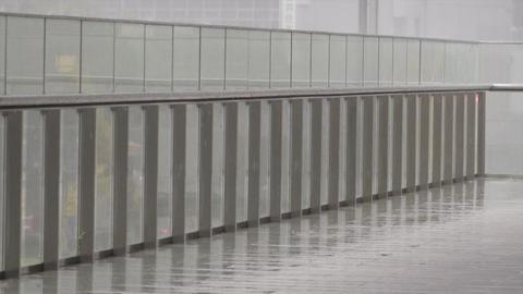hakata station 009 rain Footage