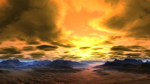 Bright, Passionate Sunset Animation