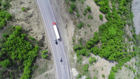 Aerial View of Truck Stock Video Footage