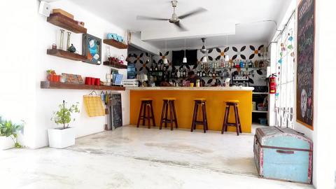 Beach bar fan restaurant Footage