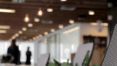 Building interior background bokeh Stock Video Footage