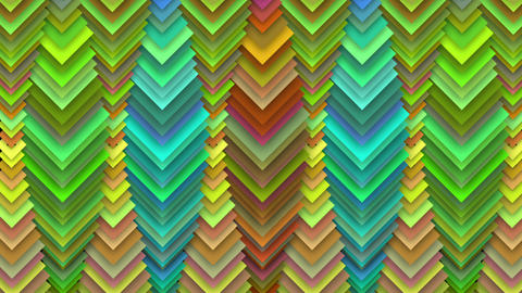 Abstract Rainbow Square Pipes Decor Animation