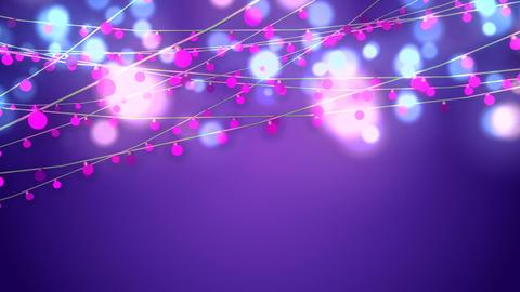 Animation of Shining Pink Christmas String 애니메이션
