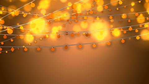 Animation of Dazzling Yellow Christmas Lights Animation