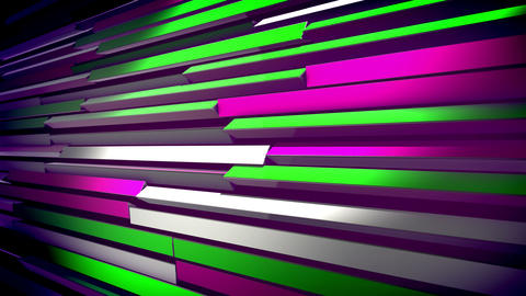 Abstract Colorful Revolving Blinds Animation