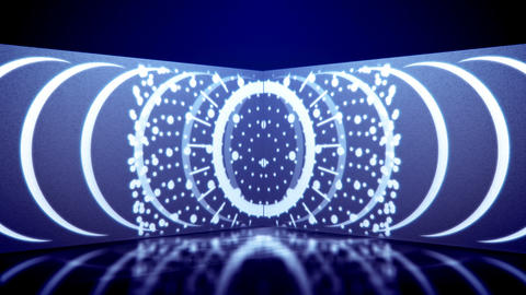 Neon tube movement of kaleidoscopic ovals Animation