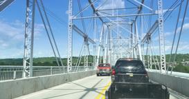 4K Stuck in Traffic on a Bridge Footage