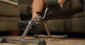 4K Man At Home Rehabilitation Footage