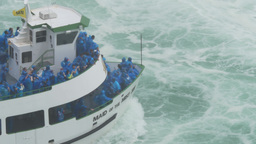 4K Maid of the Mist Tourist Boat at Niagara Falls Footage