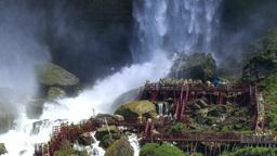 4K Tourists at Bridal Veil Falls Footage